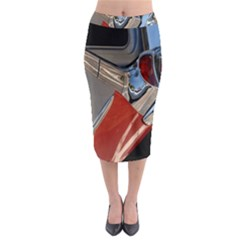 Classic Car Design Vintage Restored Midi Pencil Skirt by Nexatart