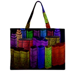 City Metropolis Sea Of Light Medium Zipper Tote Bag by Nexatart