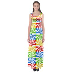 Colorful Abstract Creative Empire Waist Maxi Dress by Nexatart