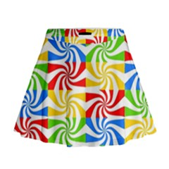 Colorful Abstract Creative Mini Flare Skirt