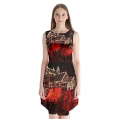 Clifton Mill Christmas Lights Sleeveless Chiffon Dress