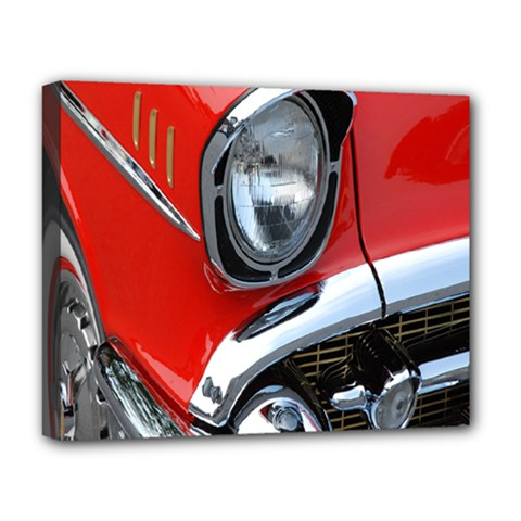 Classic Car Red Automobiles Deluxe Canvas 20  X 16   by Nexatart