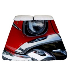 Classic Car Red Automobiles Fitted Sheet (queen Size)