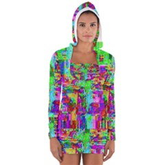 Compression Pattern Generator Women s Long Sleeve Hooded T Shirt