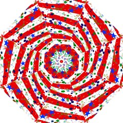 Confetti Star Parade Usa Lines Folding Umbrellas by Nexatart