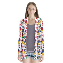 Construction Pattern Background Cardigans