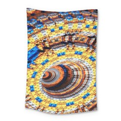 Complex Fractal Chaos Grid Clock Small Tapestry
