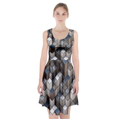Cube Design Background Modern Racerback Midi Dress by Nexatart