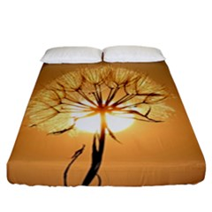 Dandelion Sun Dew Water Plants Fitted Sheet (california King Size) by Nexatart