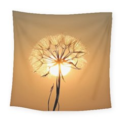 Dandelion Sun Dew Water Plants Square Tapestry (large)