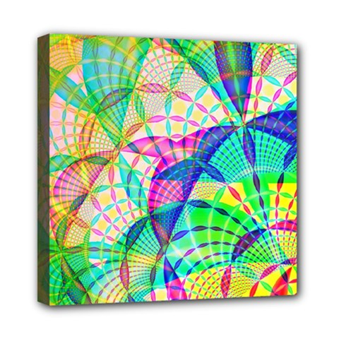 Design Background Concept Fractal Mini Canvas 8  X 8  by Nexatart