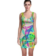 Design Background Concept Fractal Sleeveless Bodycon Dress