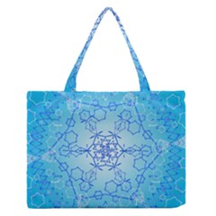 Design Winter Snowflake Decoration Medium Zipper Tote Bag by Nexatart