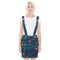 Digitally Created Snowflake Pattern Suspender Skirt