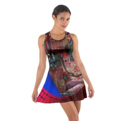 Display Dummy Binary Board Digital Cotton Racerback Dress by Nexatart