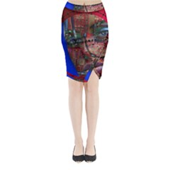 Display Dummy Binary Board Digital Midi Wrap Pencil Skirt by Nexatart