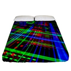 Electronics Board Computer Trace Fitted Sheet (king Size) by Nexatart