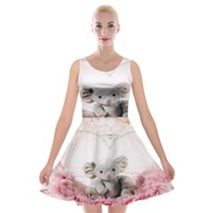 Elephant Heart Plush Vertical Toy Velvet Skater Dress