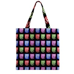 Email At Internet Computer Web Zipper Grocery Tote Bag by Nexatart