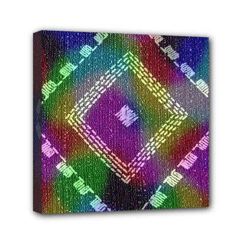Embroidered Fabric Pattern Mini Canvas 6  X 6