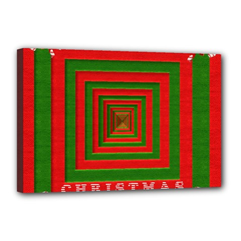 Fabric 3d Merry Christmas Canvas 18  X 12  by Nexatart