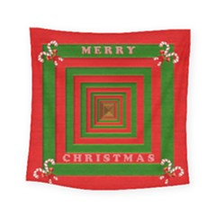 Fabric 3d Merry Christmas Square Tapestry (small) by Nexatart