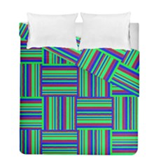 Fabric Pattern Design Cloth Stripe Duvet Cover Double Side (full/ Double Size)