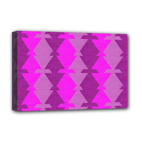 Fabric Textile Design Purple Pink Deluxe Canvas 18  X 12   by Nexatart