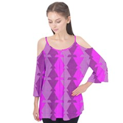 Fabric Textile Design Purple Pink Flutter Tees
