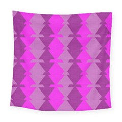 Fabric Textile Design Purple Pink Square Tapestry (large)