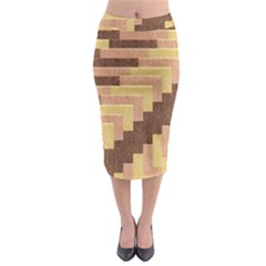 Fabric Textile Tiered Fashion Midi Pencil Skirt
