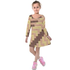 Fabric Textile Tiered Fashion Kids  Long Sleeve Velvet Dress