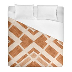 Fabric Textile Tan Beige Geometric Duvet Cover (full/ Double Size)