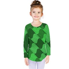 Fabric Textile Texture Surface Kids  Long Sleeve Tee