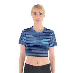 Fabric Texture Alternate Direction Cotton Crop Top