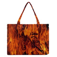 Fire Easter Easter Fire Flame Medium Zipper Tote Bag by Nexatart