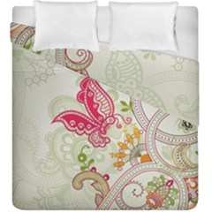 Floral Pattern Background Duvet Cover Double Side (king Size)