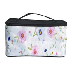 Floral Pattern Background  Cosmetic Storage Case by Nexatart