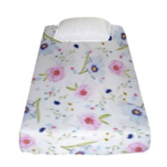 Floral Pattern Background  Fitted Sheet (single Size)
