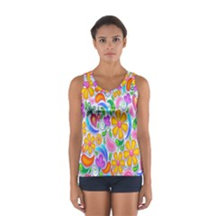 Floral Paisley Background Flower Women s Sport Tank Top  by Nexatart