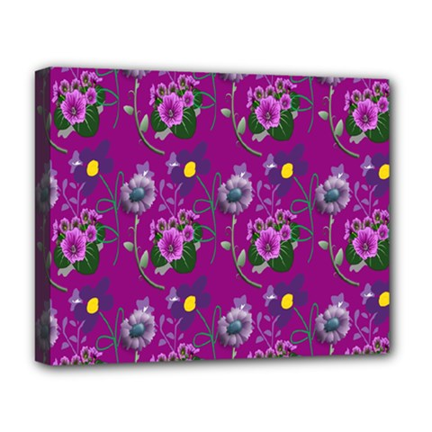 Flower Pattern Deluxe Canvas 20  X 16   by Nexatart