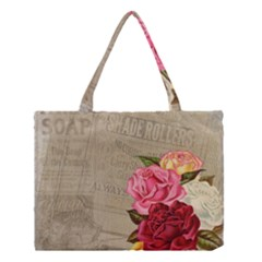 Flower Floral Bouquet Background Medium Tote Bag by Nexatart
