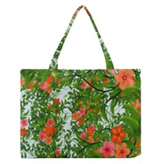 Flower Background Backdrop Pattern Medium Zipper Tote Bag by Nexatart