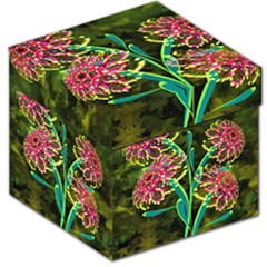 Flowers Abstract Decoration Storage Stool 12