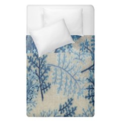Flowers Blue Patterns Fabric Duvet Cover Double Side (single Size) by Nexatart