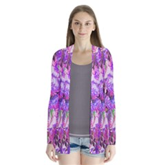 Flowers Abstract Digital Art Cardigans