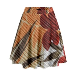 Fall Colors High Waist Skirt