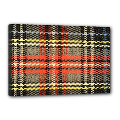 Fabric Texture Tartan Color Canvas 18  X 12  by Nexatart