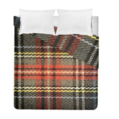 Fabric Texture Tartan Color Duvet Cover Double Side (full/ Double Size)