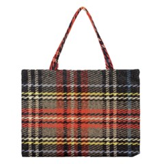Fabric Texture Tartan Color Medium Tote Bag